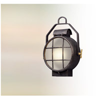 Point Lookout LED 19 inch Aged Silver with Polished Brass Accents Outdoor Wall Lantern