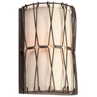 Troy Lighting Buxton 2 Light Wall Sconce in Vintage Bronze B4462