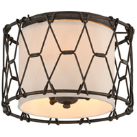 Troy Lighting Buxton 3 Light Flush Mount in Vintage Bronze C4460