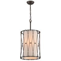 Buxton 3 Light 13 inch Vintage Bronze Entry Pendant Ceiling Light