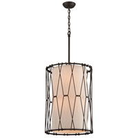 Buxton 6 Light 18 inch Vintage Bronze Entry Pendant Ceiling Light