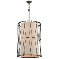 Troy Lighting F4465 Buxton 8 Light 22 inch Vintage Bronze Entry Pendant Ceiling Light