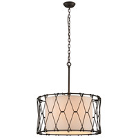 Troy Lighting F4466 Buxton 6 Light 26 inch Vintage Bronze Pendant Ceiling Light