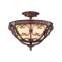 Troy Lighting La Paloma 3 Light Semi-Flush in Venetian Bronze C1102VB