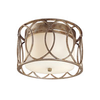Sausalito 2 Light 12 inch Silver Gold Flush Mount Ceiling Light