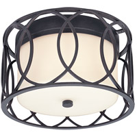 Sausalito 2 Light 12 inch Deep Bronze Flush Mount Ceiling Light