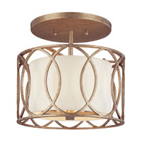 Sausalito 3 Light 12 inch Deep Bronze Semi-Flush Ceiling Light