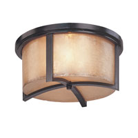 Troy Lighting Austin 3 Light Flush Mount in Antique Bronze C1741ABZ