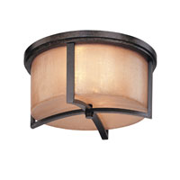 Austin 2 Light 15 inch Antique Bronze Flush Mount Ceiling Light