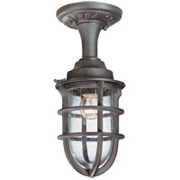 Wilimington 1 Light 6 inch Nautical Rust Outdoor Semi-Flush