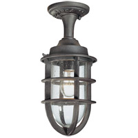Wilimington 1 Light 7 inch Nautical Rust Outdoor Semi-Flush