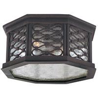 Troy Lighting Los Olivos 2 Light Outdoor Flush Mount in Old Iron C2370OI