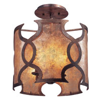 Troy Lighting Mandarin 3 Light Ceiling Semi-Flush in Mandarin Copper C2590