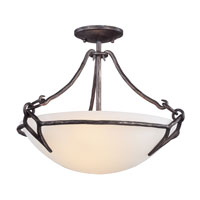 Pompeii 2 Light 18 inch Pompeii Silver Semi-Flush Ceiling Light in Incandescent