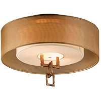 Link 2 Light 18 inch Bronze Leaf Semi-Flush Ceiling Light in Incandescent