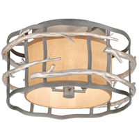 Adirondack 4 Light 18 inch Graphite And Silver Semi-Flush Ceiling Light