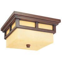 Troy Lighting Cottage Grove 2 Light Outdoor Flush Mount Lantern in Cottage Bronze C3080CB