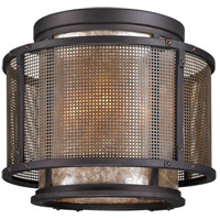 Troy Lighting Copper Mountain 4 Light Ceiling Flush in Bronze C3100