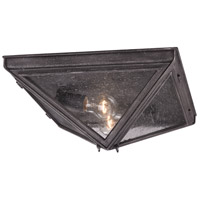Troy Lighting Bermuda 2 Light Outdoor Flush Mount in Aged Pewter C3200