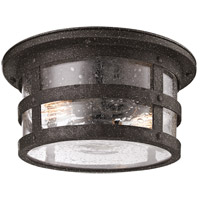 Barbosa 2 Light 15 inch Barbosa Bronze Outdoor Flush Mount in Incandescent