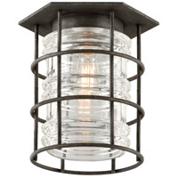 Troy Lighting Brunswick 1 Light Outdoor Flush Mount in Aged Pewter C3790