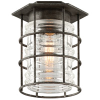 Troy Lighting Brunswick 1 Light Outdoor Flush Mount in Aged Pewter C3799