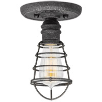 Troy Lighting Conduit 1 Light Flush Mount in Old Silver C3810