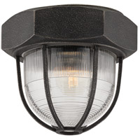 Troy Lighting Acme 1 Light Flush Mount in Aged Silver C3891