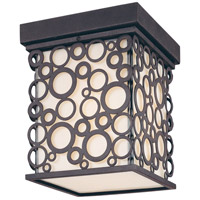 Aqua 1 Light 7 inch French Iron Outdoor Flush Mount