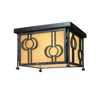 Aberdeen 2 Light 12 inch Fired Iron Outdoor Flush Mount Lantern