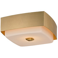 Troy Lighting C5671 Allure 2 Light 13 inch Gold Leaf Flush Mount Ceiling Light, Opal White Glass