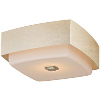 Troy Lighting C5672 Allure 2 Light 13 inch Silver Leaf Flush Mount Ceiling Light, Opal White Glass