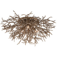 Sierra 3 Light 32 inch Distressed Bronze Flush Mount Ceiling Light