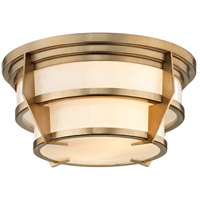 Delano 2 Light 13 inch Champagne Silver Leaf Flush Mount Ceiling Light