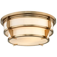 Delano 2 Light 16 inch Champagne Silver Leaf Flush Mount Ceiling Light