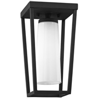 Mission Beach 1 Light 6 inch Textured Black Outdoor Semi Flush Mount