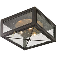 Randolph 3 Light 13 inch Vintage Bronze Outdoor Flush Mount
