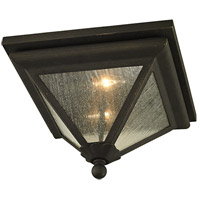 Geneva 2 Light 14 inch Vintage Bronze Outdoor Flush Mount