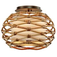 Troy Lighting C6740 Balboa 3 Light 15 inch Bronze Semi Flush Ceiling Light