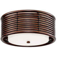 Troy Lighting C6940 Key West LED 16 inch Espresso Semi Flush Ceiling Light