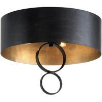 Troy Lighting C7230 Rivington 4 Light 20 inch Charred Copper Semi Flush Ceiling Light