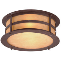 Aspen 2 Light 14 inch Natural Bronze Outdoor Flush Mount