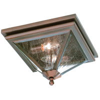 Troy Lighting Geneva 2 Light Outdoor Flush Mount in Old Rust CCD8990OR