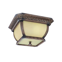 Troy Lighting Biscayne 2 Light Outdoor Flush Mount Fluorescent in Biscayne CF2080BI