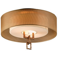 Link 2 Light 18 inch Bronze Leaf Semi-Flush Fluorescent Ceiling Light