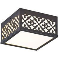 Troy Lighting Simpatico Opus 2 Light Outdoor Flush Mount in Architectural Bronze CWT6091ARB