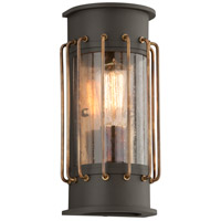 Cabot 1 Light 12 inch Historic Bronze Outdoor Wall Sconce in Incandescent