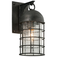 Charlemagne 1 Light 13 inch Aged Pewter Outdoor Wall Sconce in Incandescent