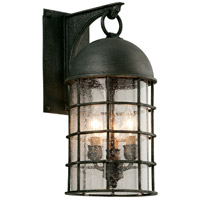 Troy Lighting Charlemagne 3 Light Outdoor Wall Sconce in Aged Pewter B4432