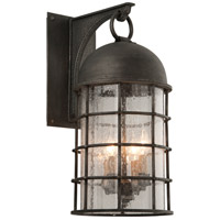 Troy Lighting Charlemagne 4 Light Outdoor Wall Sconce in Aged Pewter B4433